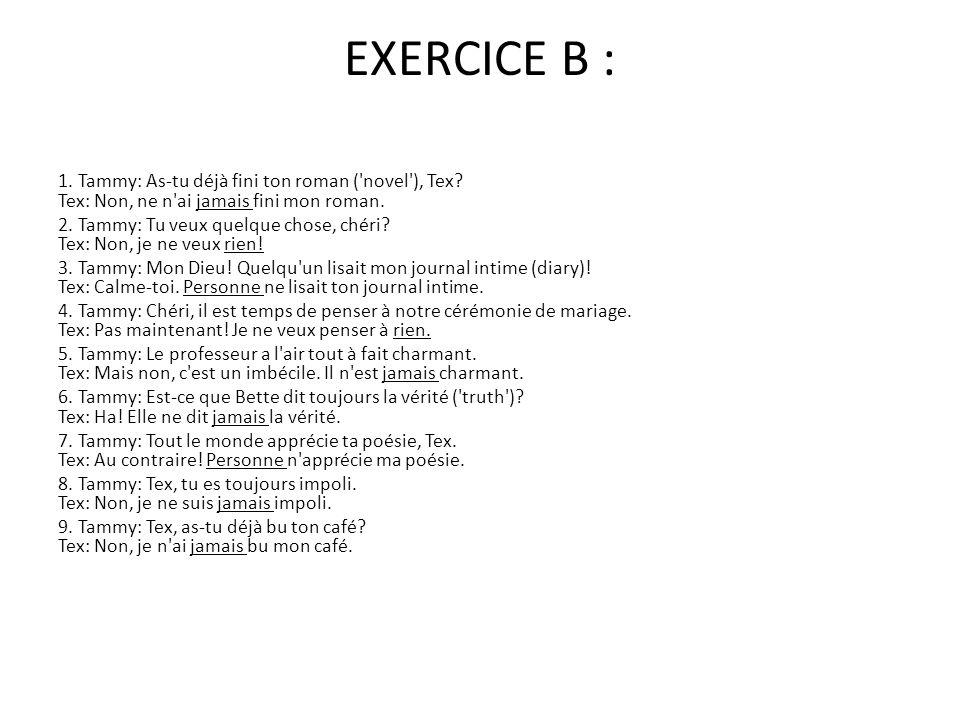 EXERCICE B :