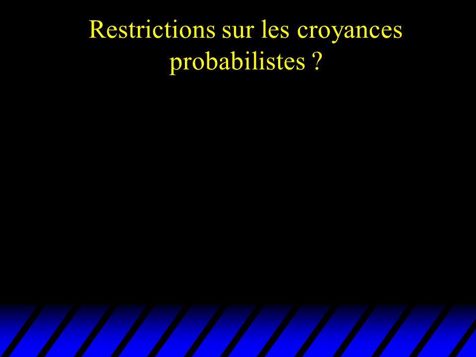 Restrictions sur les croyances probabilistes