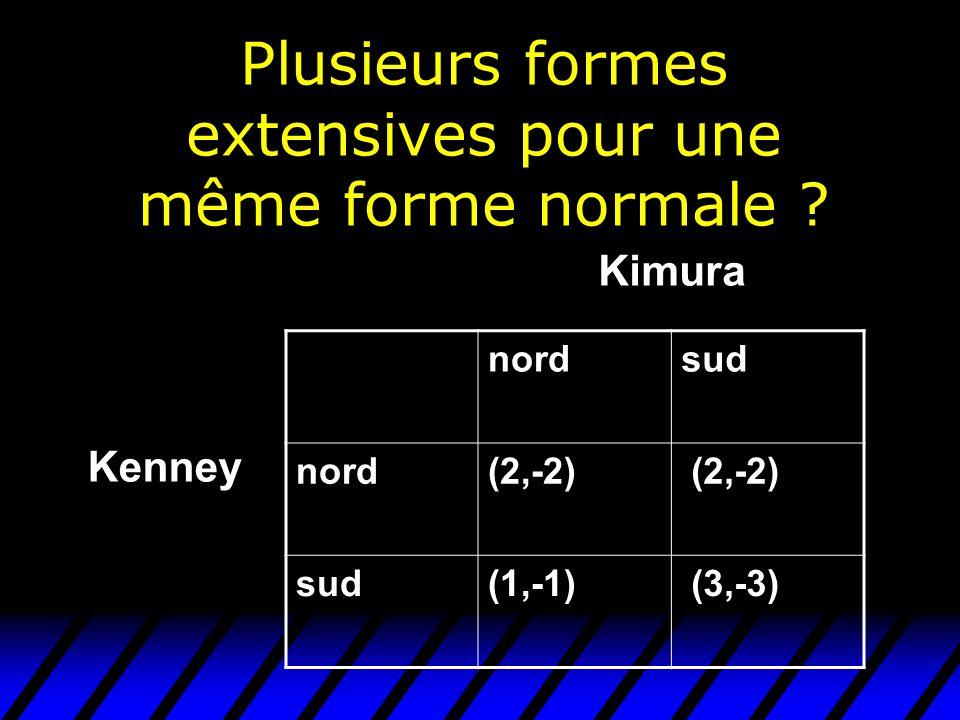 Plusieurs formes extensives pour une même forme normale