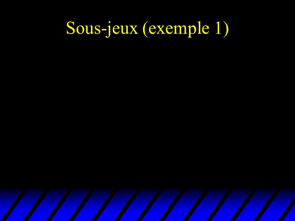 Sous-jeux (exemple 1)