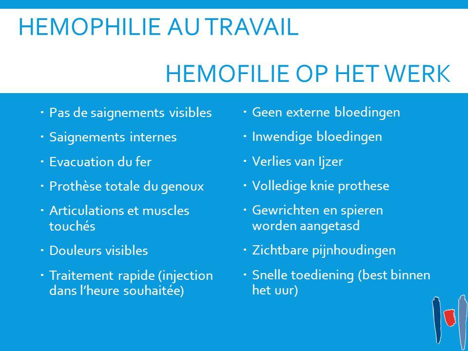 Hemophilie au travail Hemofilie op het werk