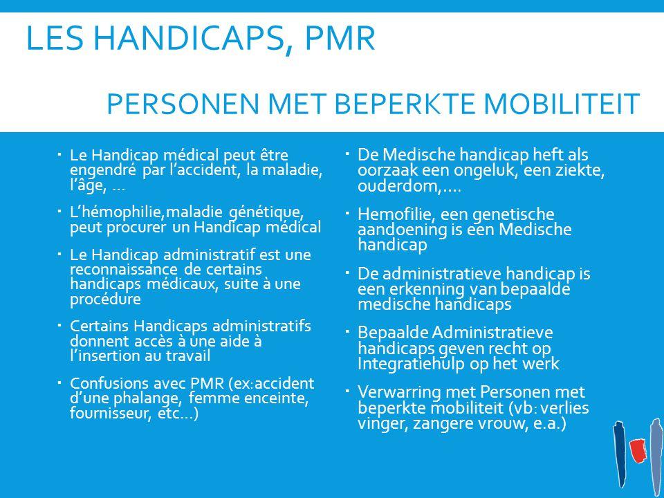 LeS Handicaps, PMR Personen met beperkte mobiliteit
