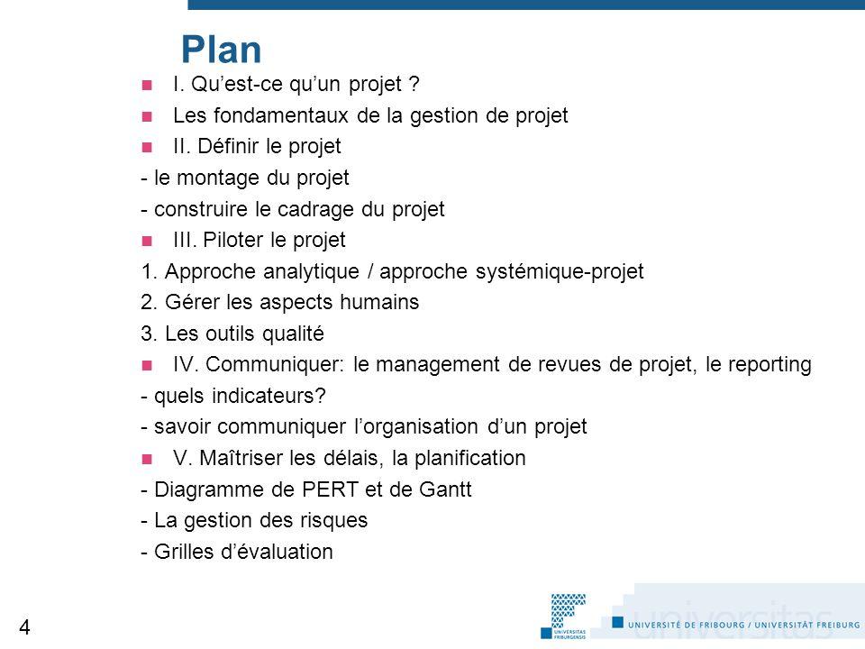 Plan I. Qu'est-ce qu'un projet