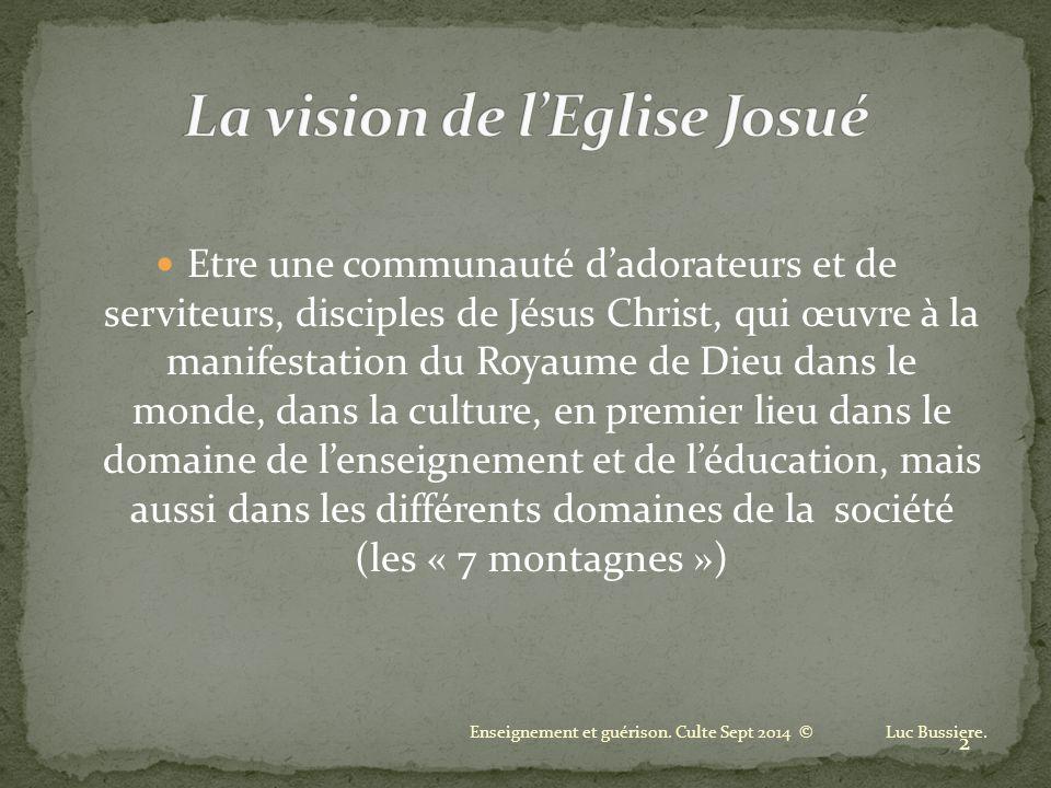 La vision de l'Eglise Josué