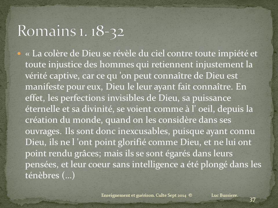 Romains 1. 18-32