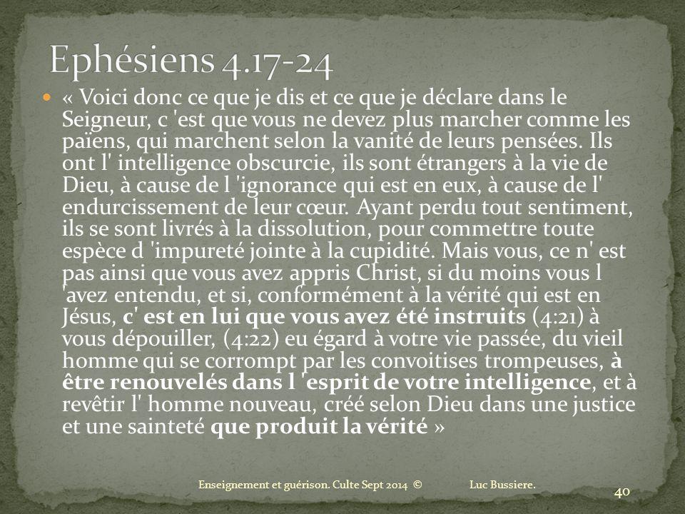 Ephésiens 4.17-24