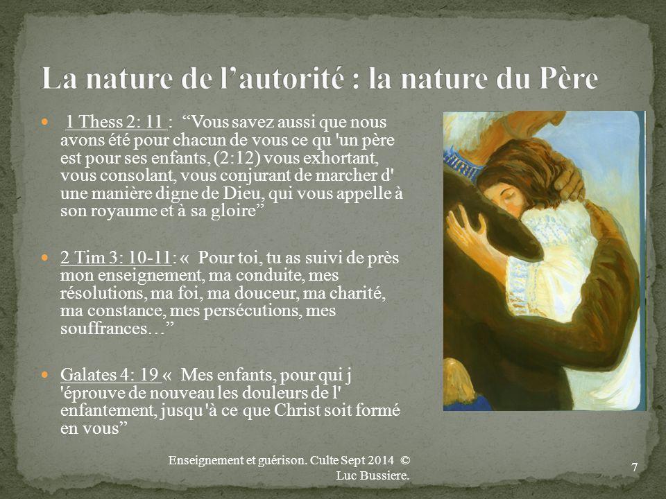 La nature de l'autorité : la nature du Père