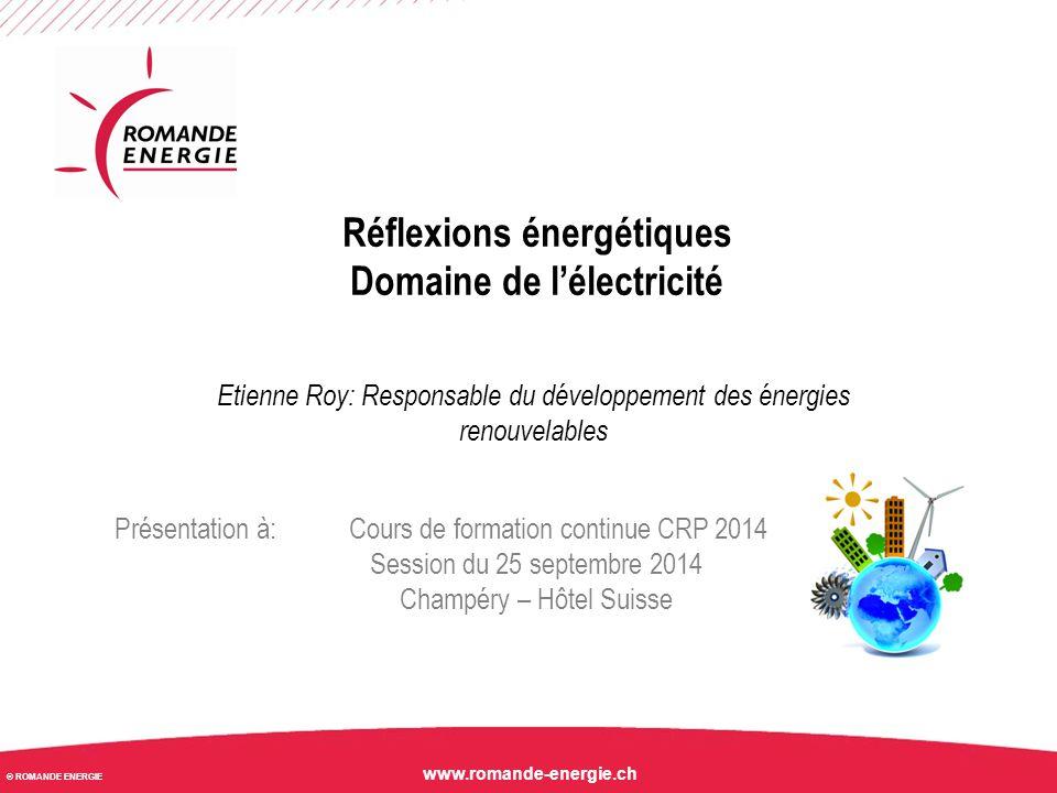 Réflexions énergétiques Domaine de l'électricité