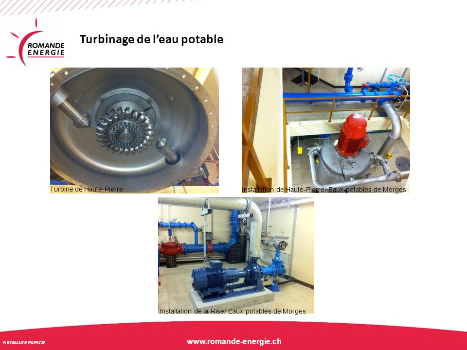 Turbinage de l'eau potable
