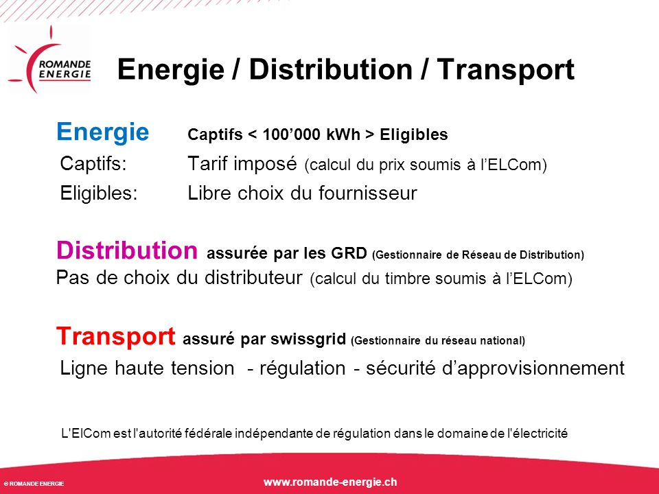 Energie / Distribution / Transport