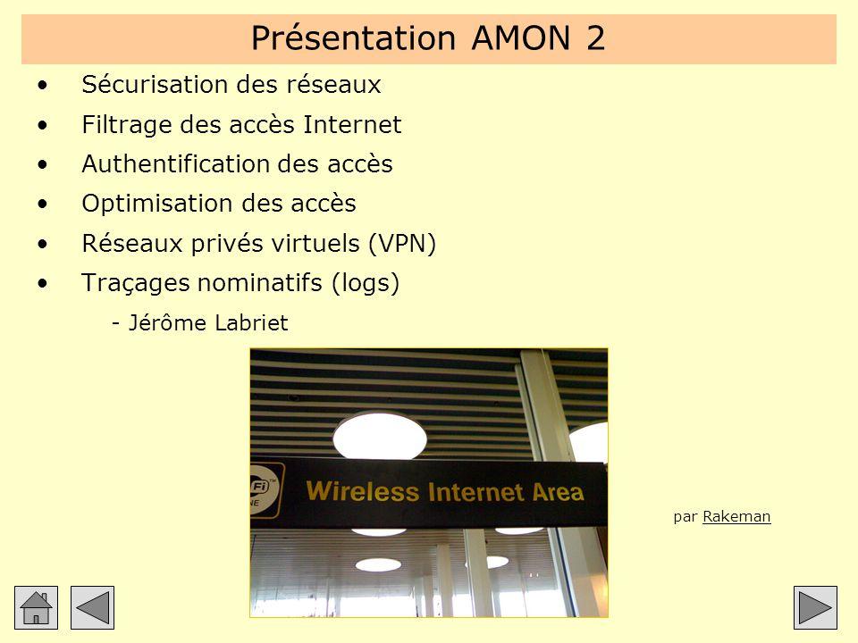 Présentation AMON 2 Sécurisation des réseaux