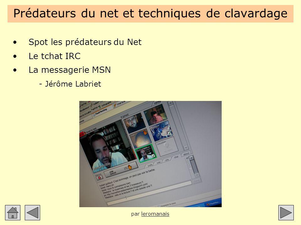 Prédateurs du net et techniques de clavardage