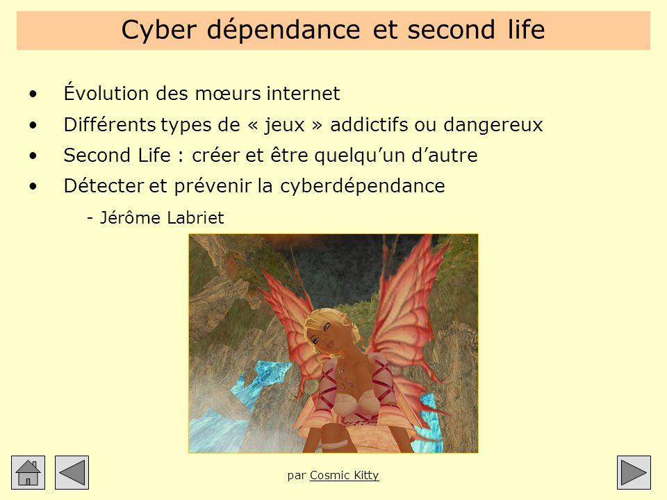 Cyber dépendance et second life