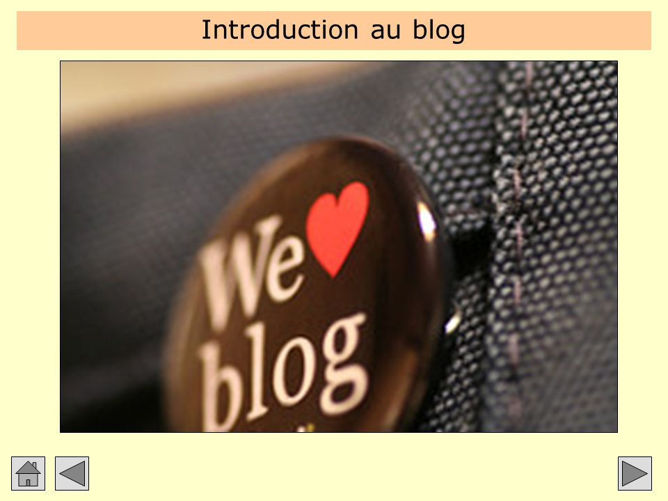 Introduction au blog Introduction à partir des deux blogues du formateur : Blogue perso : http://carter.blogg.org.