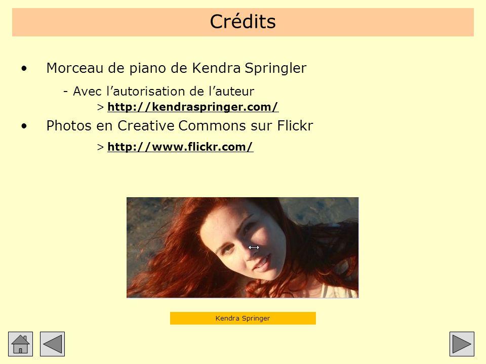 Crédits Morceau de piano de Kendra Springler