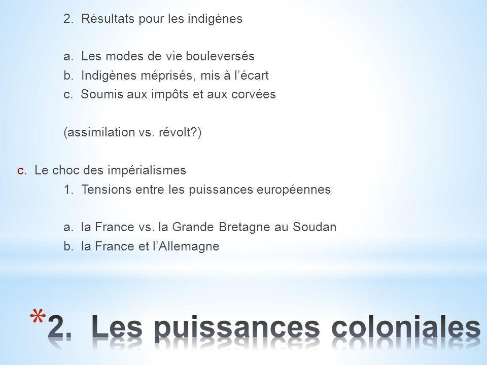 2. Les puissances coloniales