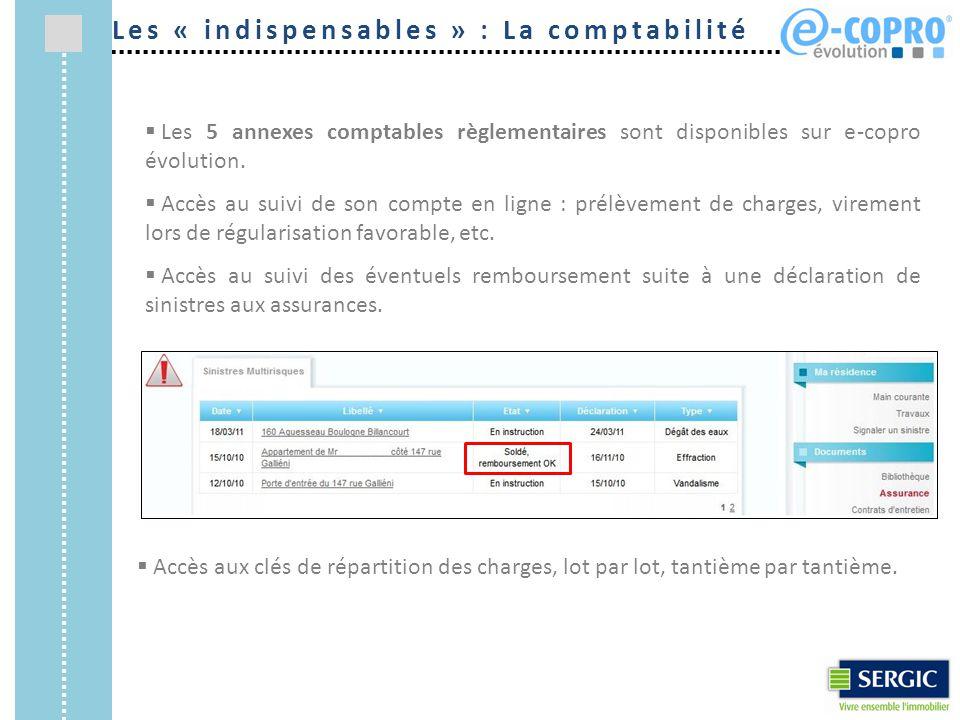 Les « indispensables » : La comptabilité