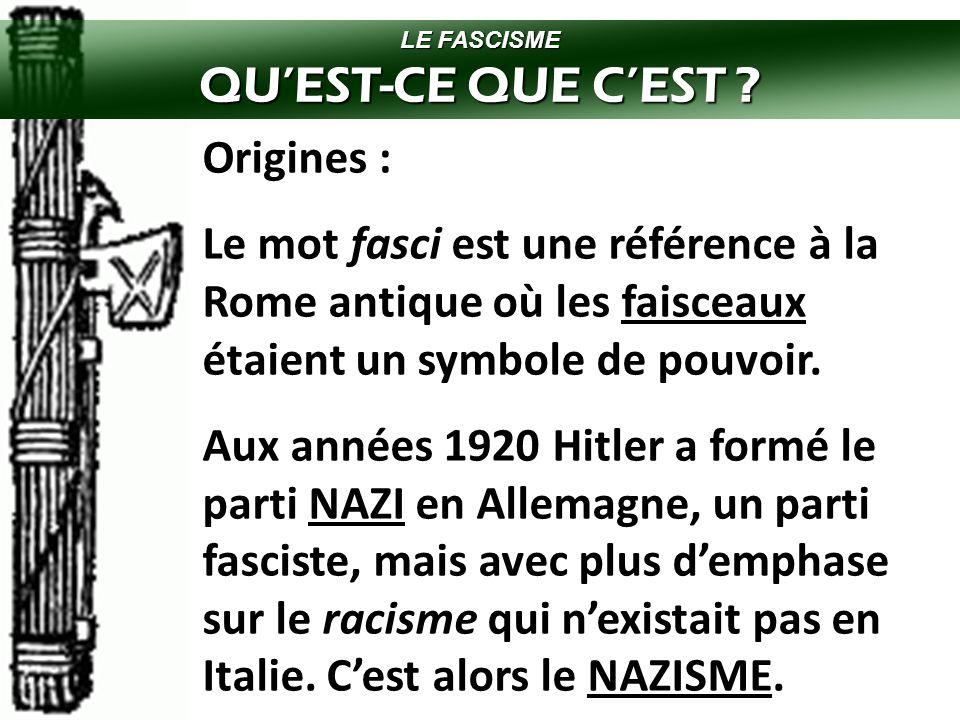 QU'EST-CE QUE C'EST Origines :