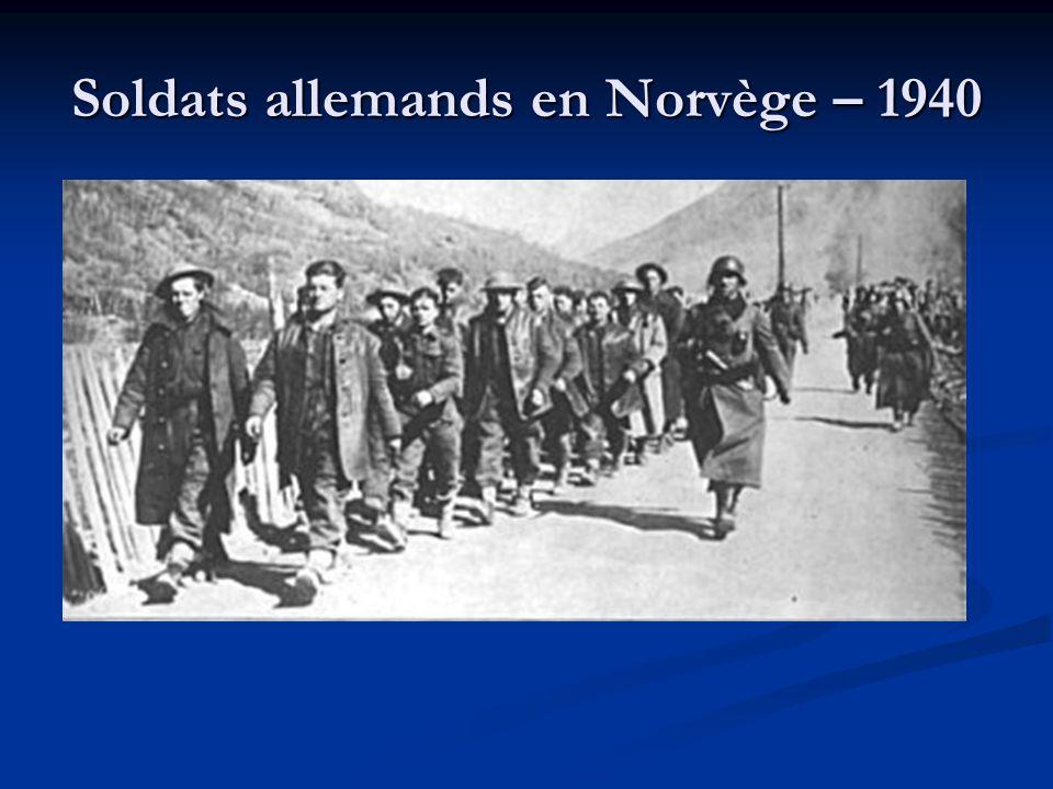 Soldats allemands en Norvège – 1940