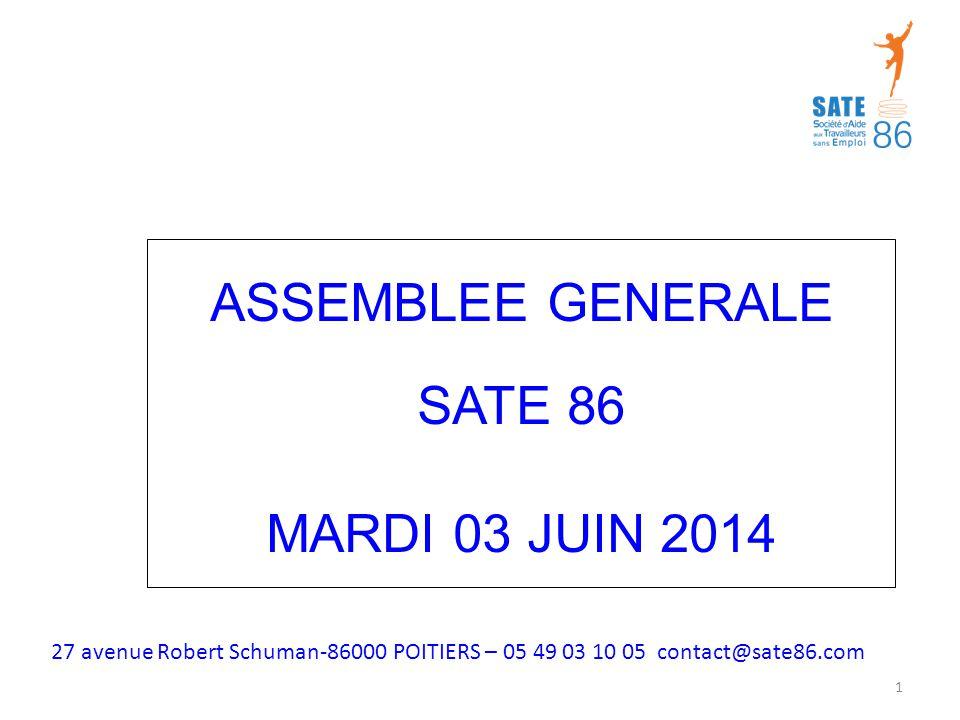 ASSEMBLEE GENERALE SATE 86 MARDI 03 JUIN 2014