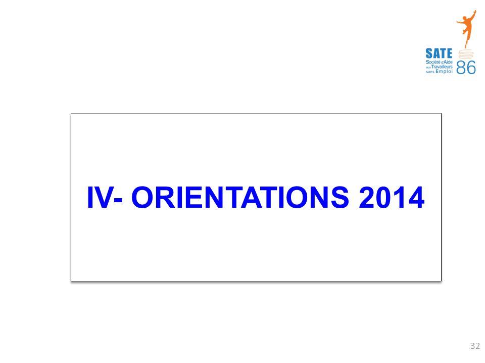 IV- ORIENTATIONS 2014