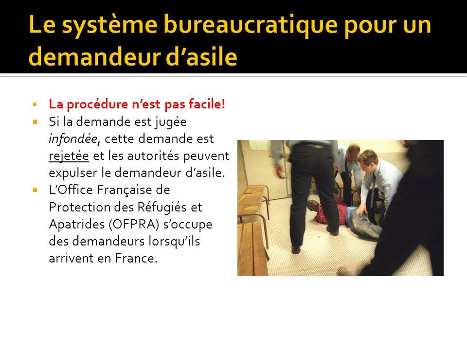 Le système bureaucratique pour un demandeur d'asile