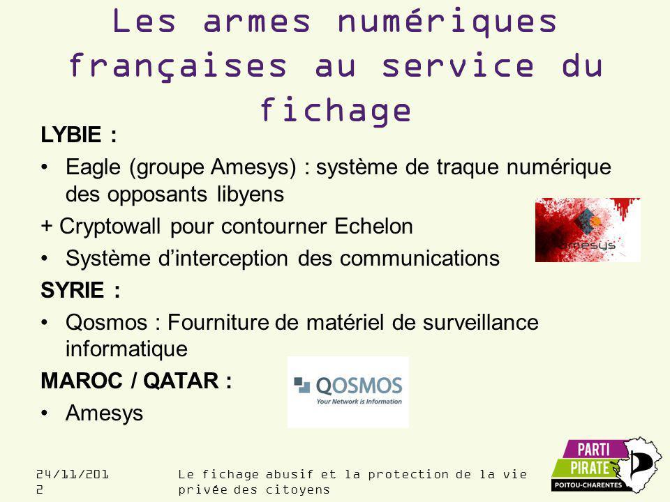 Les armes numériques françaises au service du fichage