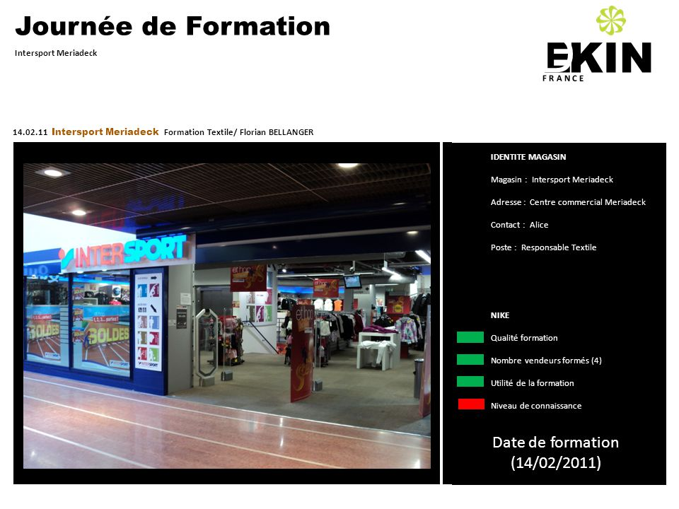 D KIN E Journée de Formation Date de formation (14/02/2011)