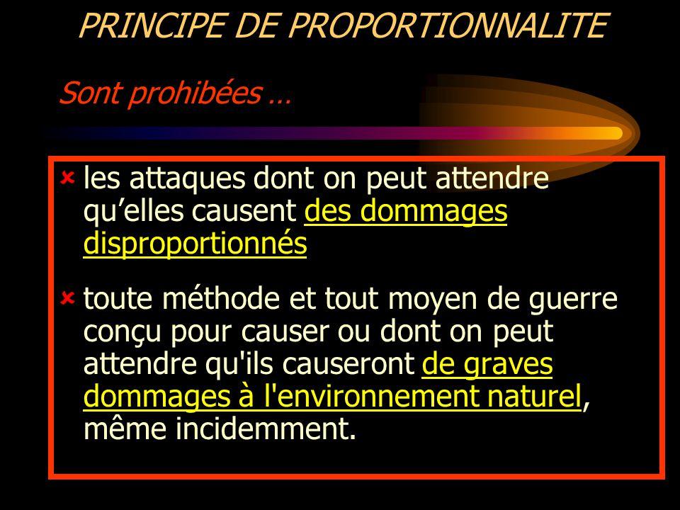 PRINCIPE DE PROPORTIONNALITE