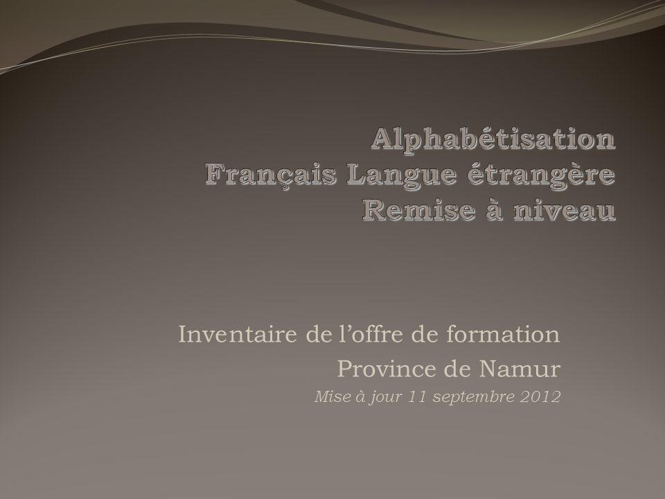 Alphabétisation Français Langue étrangère Remise à niveau