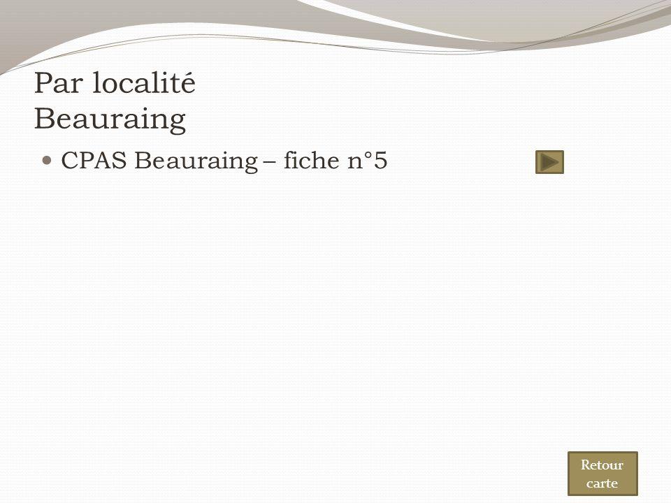 Par localité Beauraing