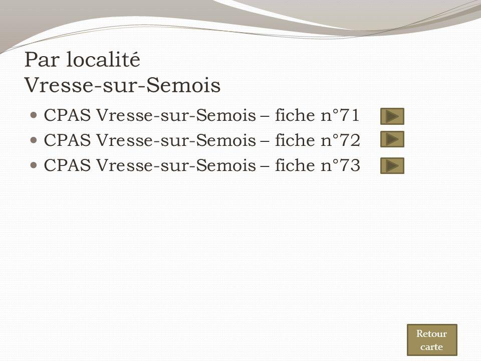 Par localité Vresse-sur-Semois