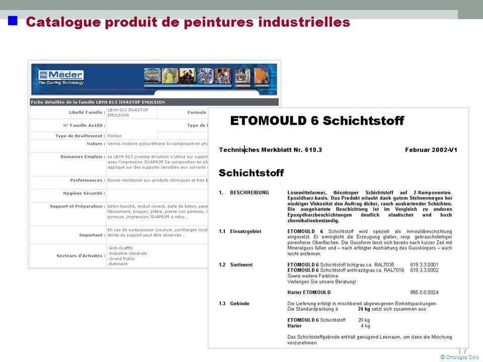  Catalogue produit de peintures industrielles