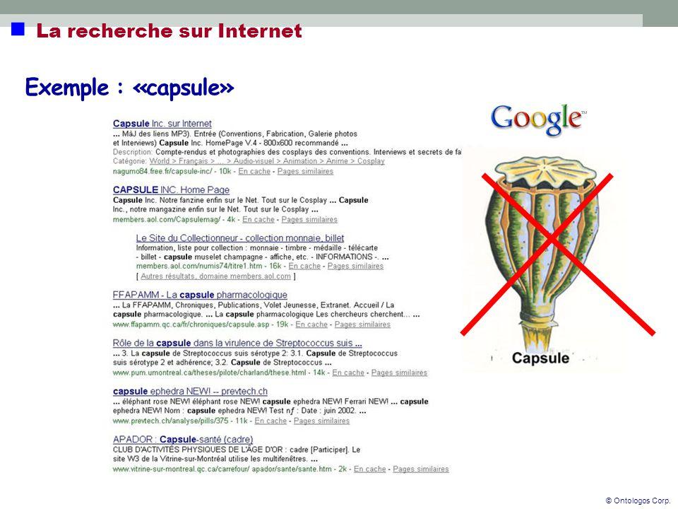  La recherche sur Internet