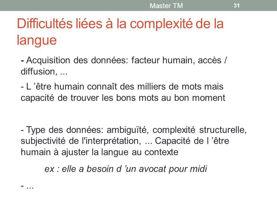 Difficultés liées à la complexité de la langue