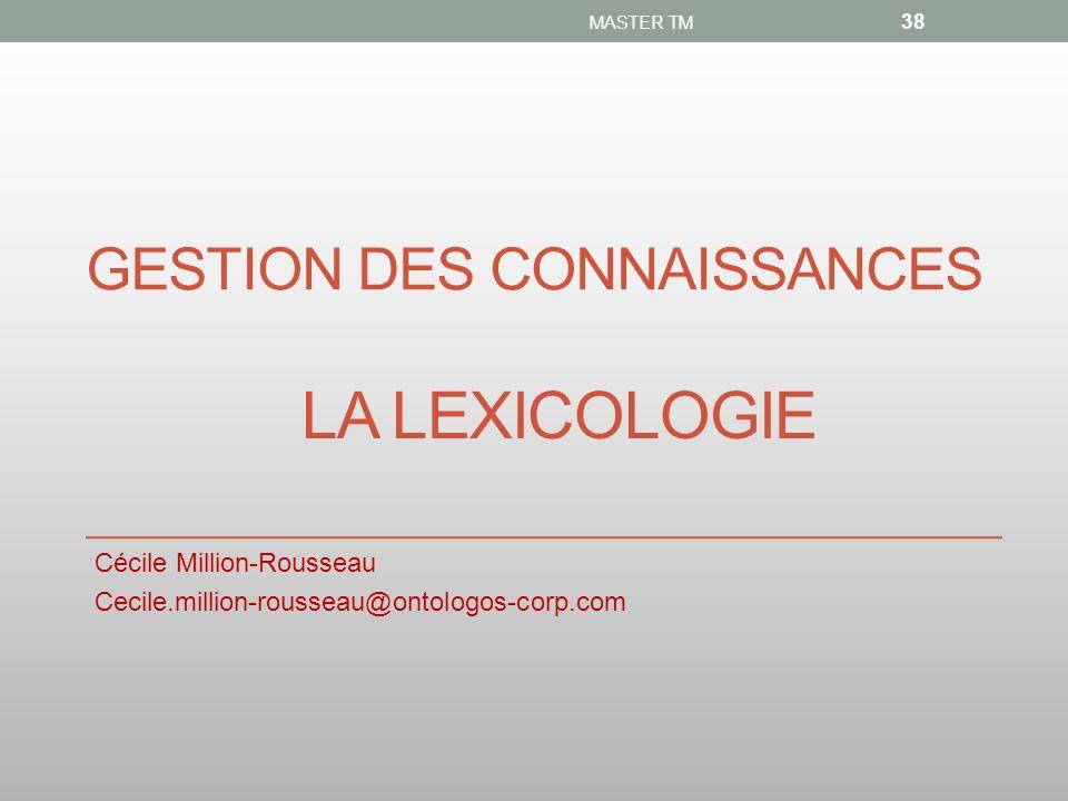 gesTION DES CONNAISSANCES