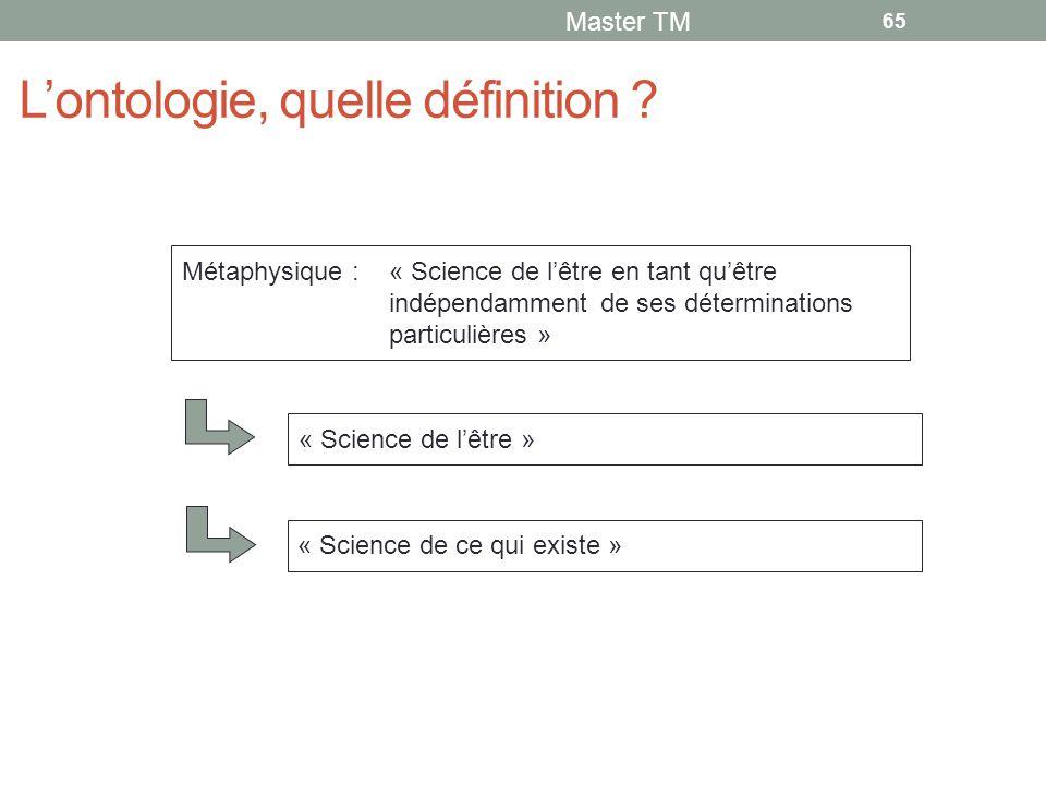 L'ontologie, quelle définition