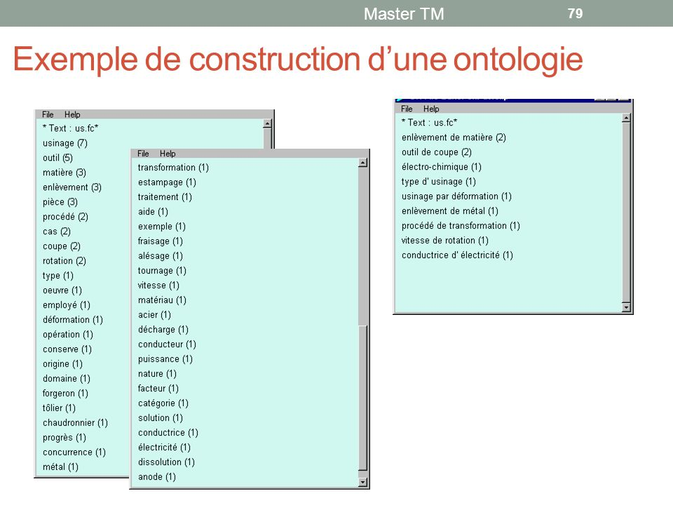Exemple de construction d'une ontologie