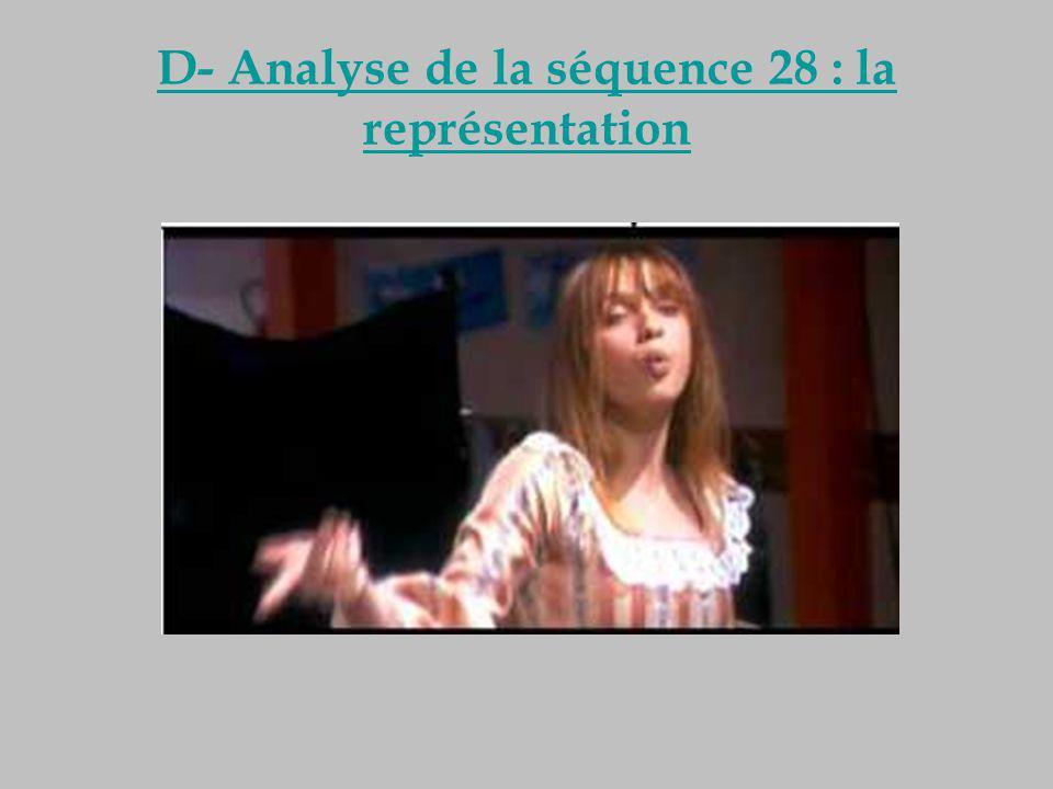 D- Analyse de la séquence 28 : la représentation