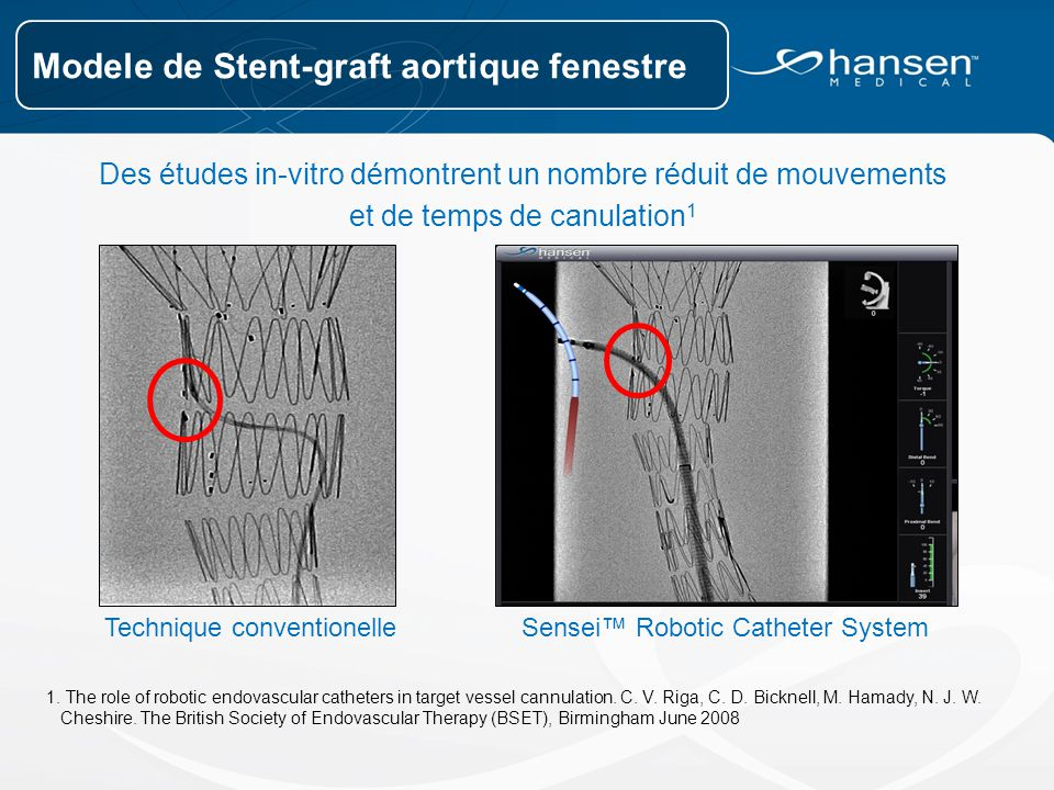 Modele de Stent-graft aortique fenestre