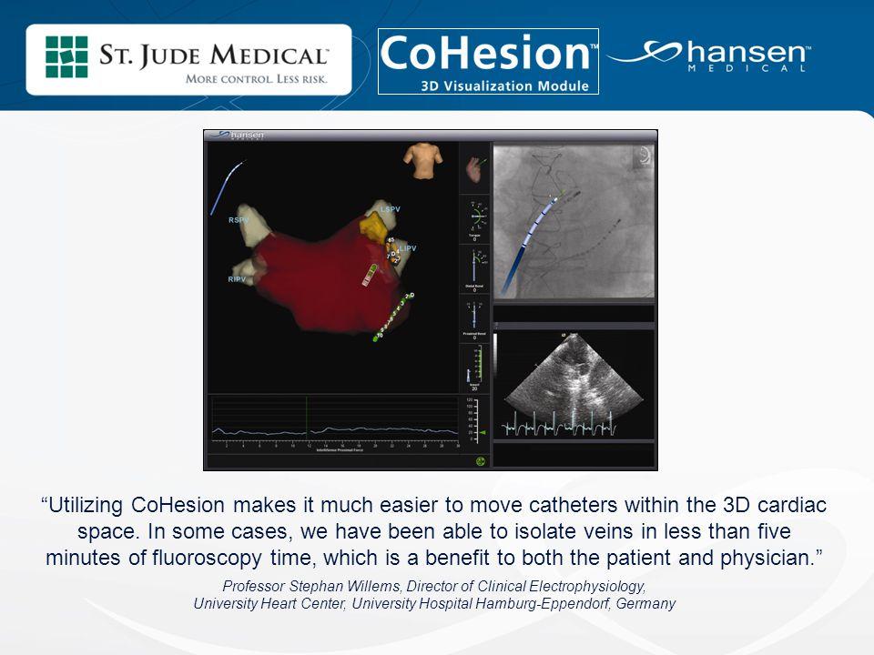 Offre une visualisation 3D qui permet une navigation plus aisee et plus precise du catheter dans l'oreillette