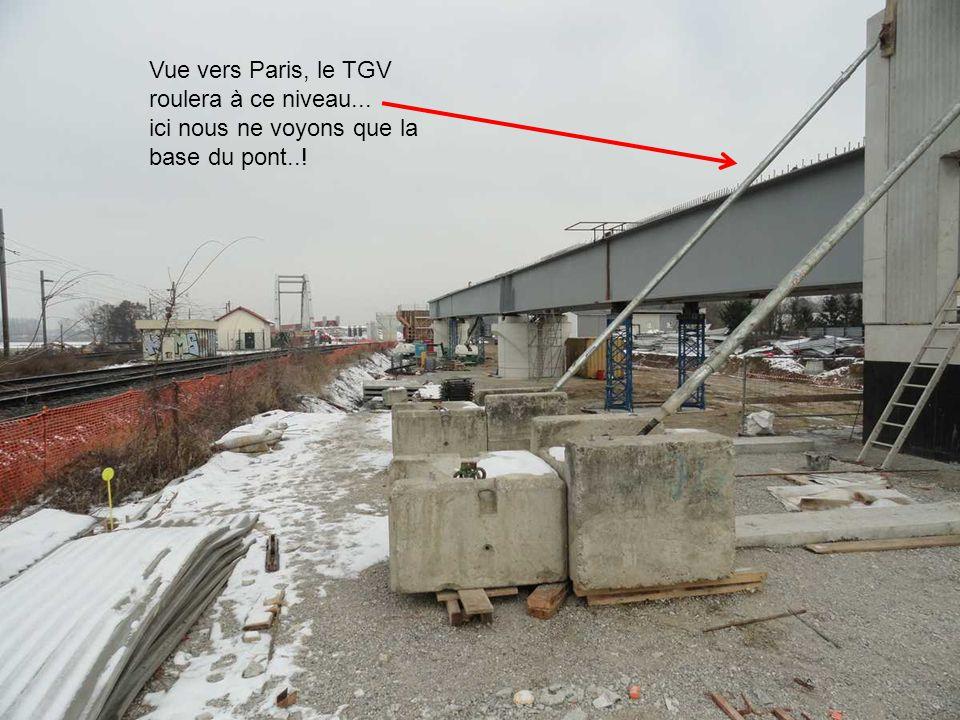Vue vers Paris, le TGV roulera à ce niveau...