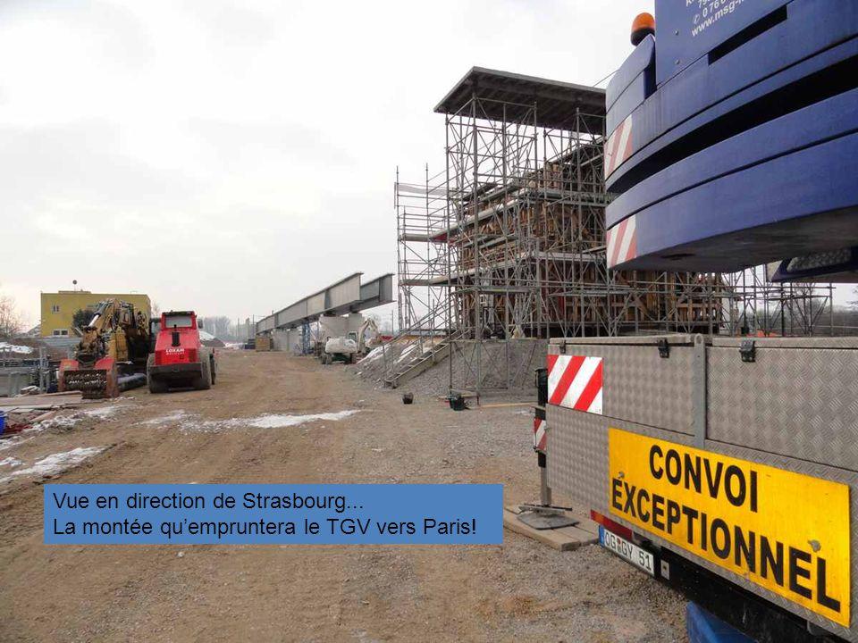 Vue en direction de Strasbourg...