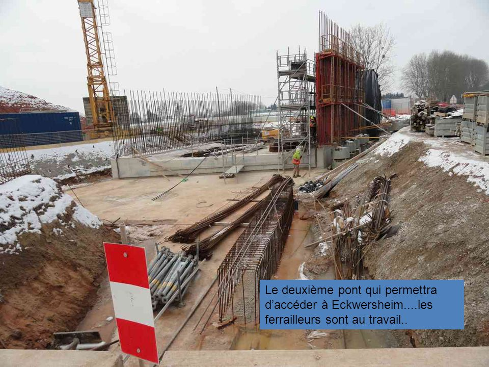 Le deuxième pont qui permettra d'accéder à Eckwersheim