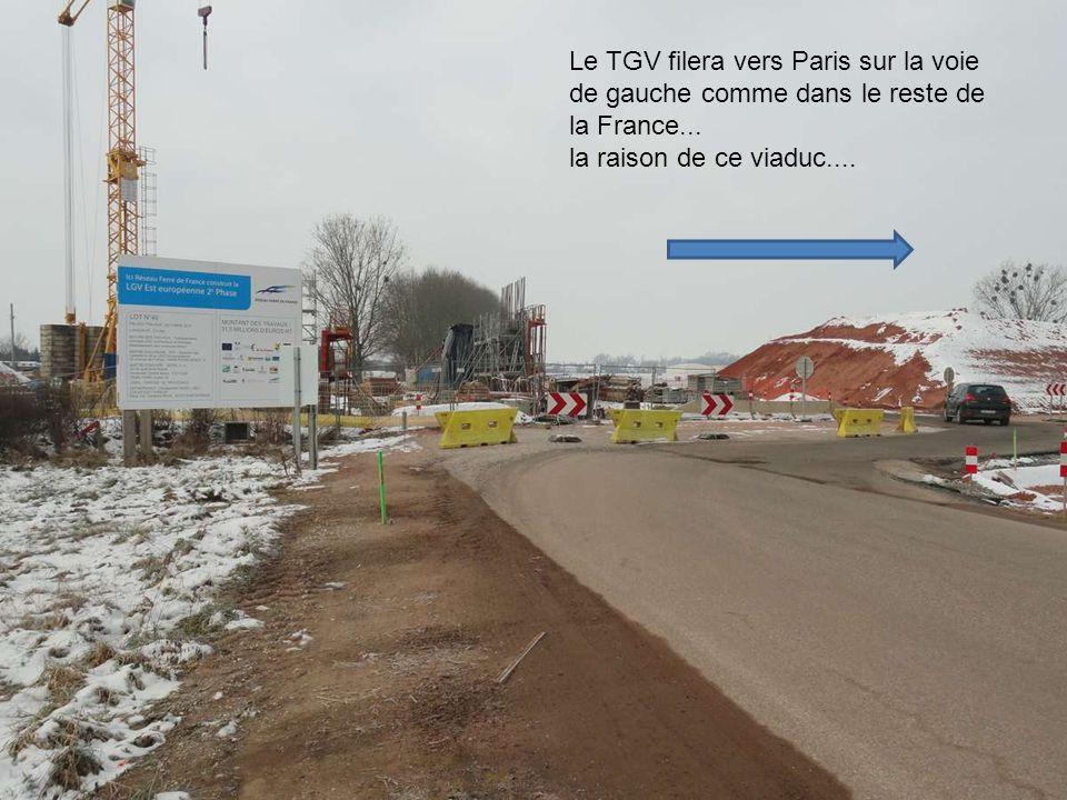 Le TGV filera vers Paris sur la voie de gauche comme dans le reste de la France...