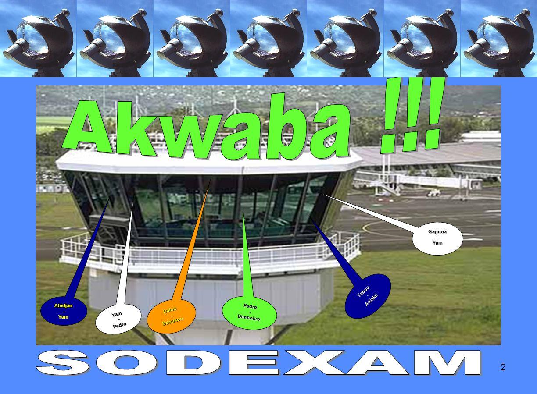 Akwaba !!! SODEXAM Gagnoa - Yam Tabou Adiaké - Abidjan - Yam Pedro -