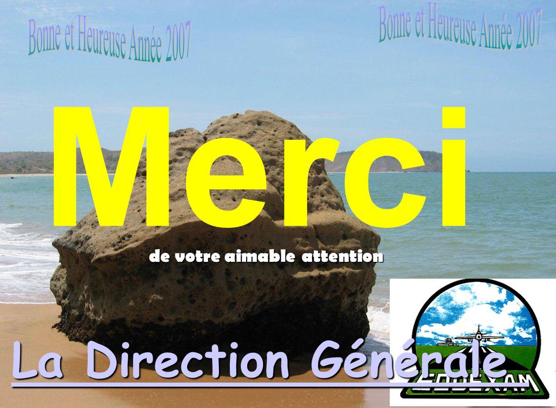 Merci La Direction Générale Bonne et Heureuse Année 2007