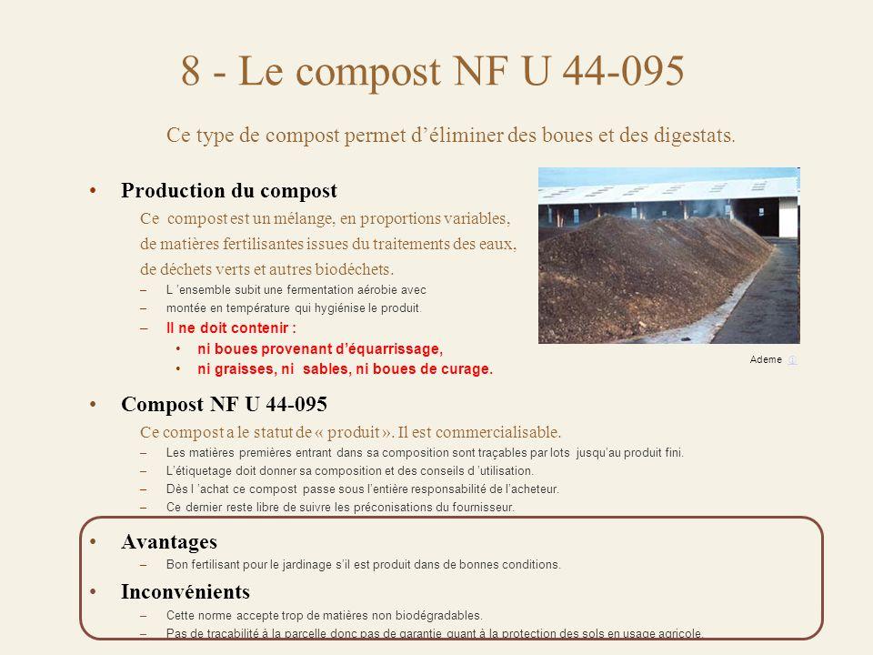 Ce type de compost permet d'éliminer des boues et des digestats.