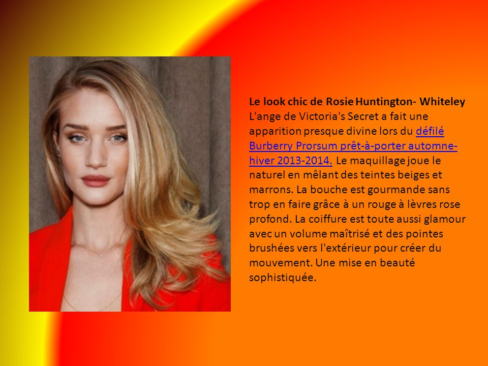 Le look chic de Rosie Huntington- Whiteley