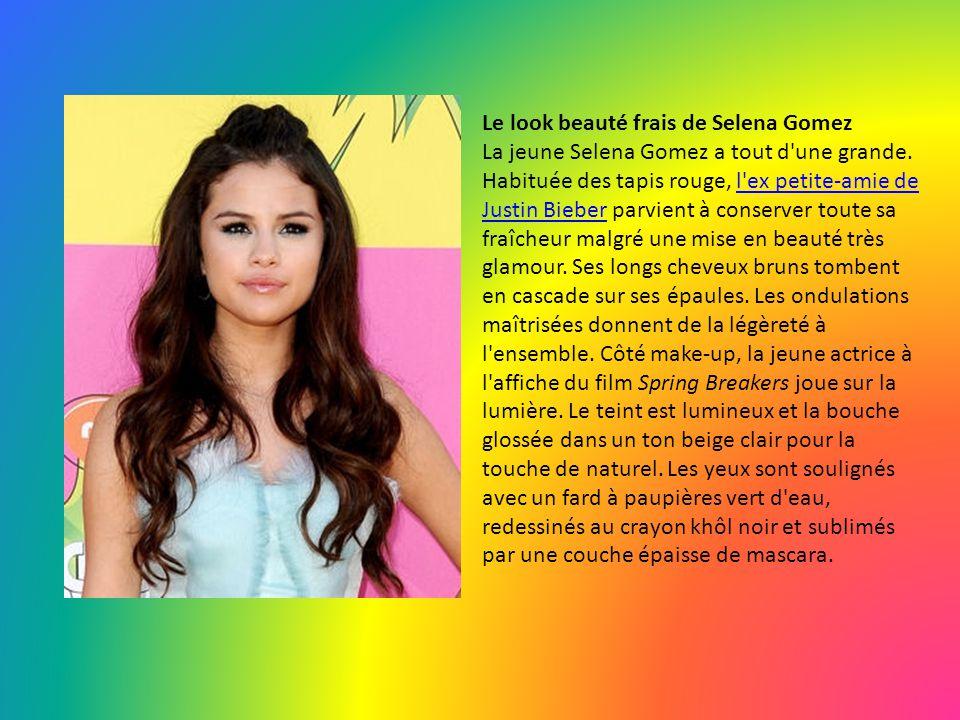 Le look beauté frais de Selena Gomez